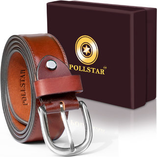 POLLSTAR High Quality Full Grain Italian Leather Belt with Anti Scratch Buckle (BT124BN)