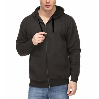 Nike Black Core Fleece Full Zip Sweatshirt with Hoodie