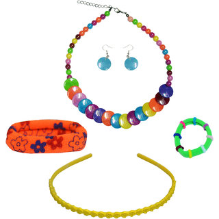 93553fd13253e Buy Angel Glitter Multicolor Fancy Jewellery Combo For Kids Online - Get  20% Off