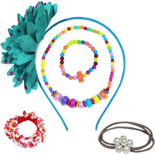 Angel Glitter The Pretty Chocolate With Big Flower Jewellery Set For Kids