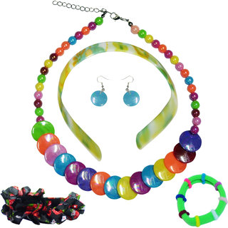 Angel Glitter Colorful Combo Jewellery Set For Kids