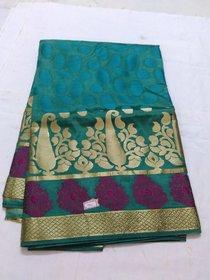 Green Colour Gold Silk Saree Grand Golden Pallu Negamum W/B Silk Full Zari Work Godwa Silk Saree