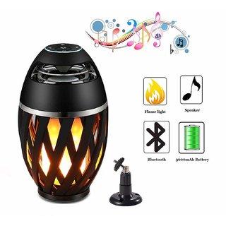 Tech Gear Led Lamp Bluetooth Speaker Flame Atmosphere Speakers, Table Lamp Wireless Night Light Portable Speaker