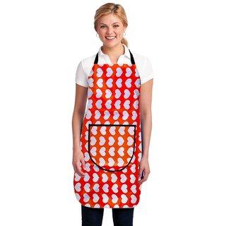HomeStore-YEP Modern PVC Waterproof Kitchen Apron with Front Pocket, Multicolor, M-6