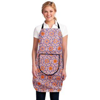 HomeStore-YEP Modern PVC Waterproof Kitchen Apron with Front Pocket, Multicolor, M-5