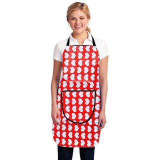HomeStore-YEP Modern PVC Waterproof Kitchen Apron with Front Pocket, Multicolor, M-9