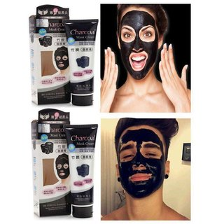 Charcoal Face Mask Anti Blackhead (Pack Of 2) - Unisex