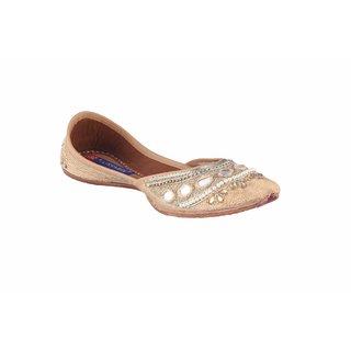 MSC Women's Gold Slip on Leather Jutti