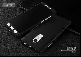 Redmi Note 5 360 Degree Full Cover with temper glass - black