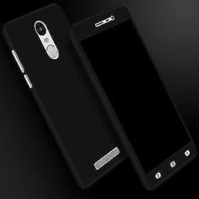 REDMI NOTE 5 PRO 360 Degree Full Body Protection (Front+ Back + Temper Glass) Case Cover - black