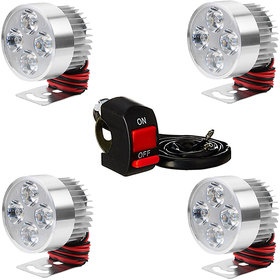 Pack of 4 Led Fog Light With 1 On and Off Switch By EShopglee