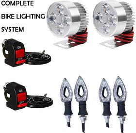 FOG LIGHT 4 LED 2 PCS + 2 ON/OFF SWITCH + 4 PCS POINTER INDICATOR LIGHT