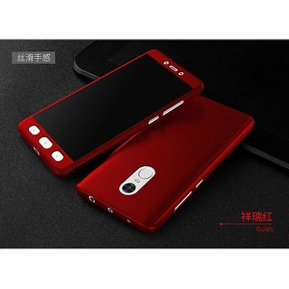 Redmi Note 5 360 Degree Full Cover with temper glass - red