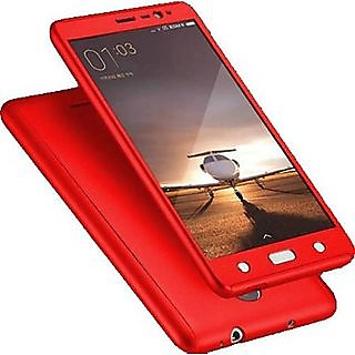 REDMI NOTE 5 PRO 360 Degree Full Body Protection (Front+ Back + Temper Glass) Case Cover - RED