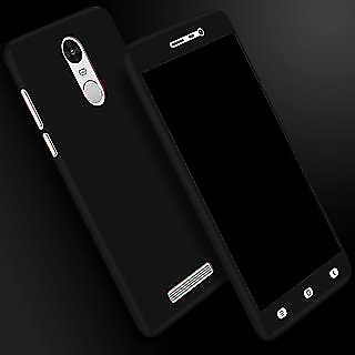 REDMI NOTE 5 PRO 360 Degree Full Body Protection (Front+ Back + Temper Glass) Case Cover - black