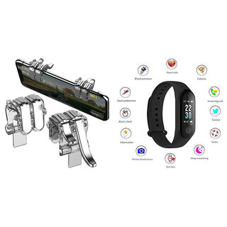M3 fitness band and Silver Metal PUBG Trigger|Smart phones compatiable fitness band|| Heart rate band||Health Watch|| Calories Tracker Band|| Step Count Band||fitness tracker|| bluetooth smart band ||Wrist Watch band|| smart band ||With Alarm System||Best