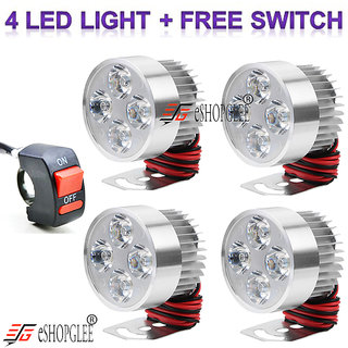FOG LIGHT 4 LED 4 PCS FREE 1 ON/OFF SWITCH