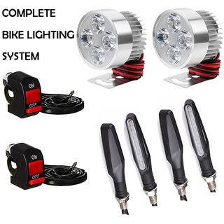 FOG LIGHT 4 LED 2 PCS + 2 ON/OFF SWITCH + 4 PCS SLIM INDICATOR LIGHT
