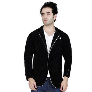 Conway Black Casual Velvet Blazer For Men's