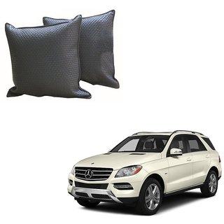 Auto Addict Grey Leatherite Car Pillow Cushion Kit (Set of 2Pcs) For Mercedes Benz GLC-Class