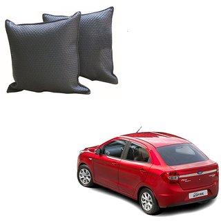 Auto Addict Grey Leatherite Car Pillow Cushion Kit (Set of 2Pcs) For Ford Figo::Aspire