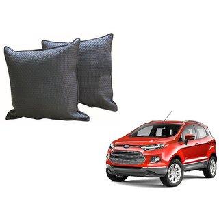 Auto Addict Grey Leatherite Car Pillow Cushion Kit (Set of 2Pcs) For Ford Ecosport