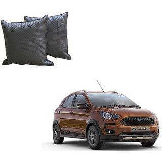 Auto Addict Grey Leatherite Car Pillow Cushion Kit (Set of 2Pcs) For Ford Freestyle
