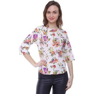 Jollify Women's  Multi Printed  Round Neck  Top