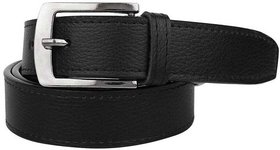 Black PU Pin-Hole Buckle Belt for Mens