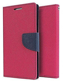 Imperium Luxury Magnetic Lock Wallet Flip Cover For Samsung Galaxy J7 Prime (Pink & Blue)