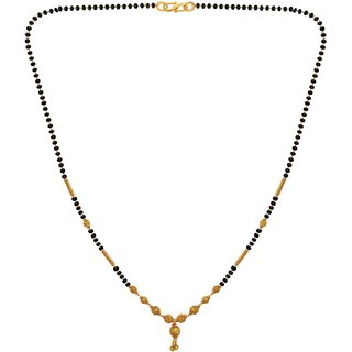 MOHNISH CREATION Gold Plated Jewellery Mangalsutra Pendant Necklace with Chain for Girls and Women