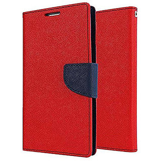 Imperium Luxury Magnetic Lock Wallet Flip Cover For Oppo A37 (Red & Blue)