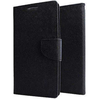 Wondrous Luxury Magnetic Lock Wallet Flip Cover For Samsung Galaxy J8 (Black)
