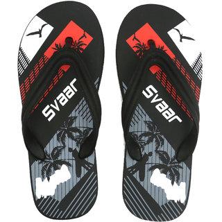 48ef62d74080 Buy Svaar Black Printed Flip Flops Online - Get 70% Off