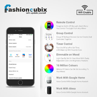 Fashioncubix 13W Smart LED Bulb, Voice Control with Alexa Google Home  Assistant, White Multi Colour (16 Million colo