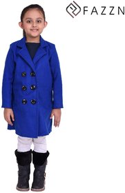 Fazzn Blue Warmful woolen Coat for Girls