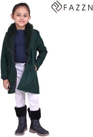 Fazzn Firozi Warmful woolen Coat for Girls