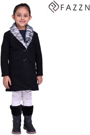 Fazzn Green Warmful woolen Coat for Girls