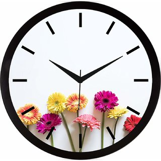 Shopoxide 11.75 inches Wall Clock for Home/Kitchen/Living Room/Bedroom (9137)