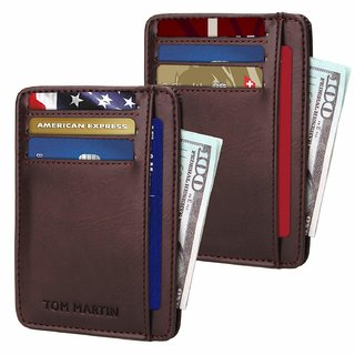 50%off Tom Martin TM10 RFID Protected Slim Credit Debit Holder Wallet with  Money Pocket for Men c6415037ed961
