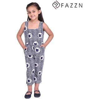 6886d0d53edb Buy Fazzn Stylish   Trendy Blue With Border Print Cotton Jumpsuit for Girls  Online - Get 53% Off