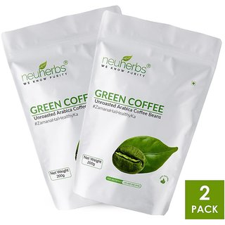 Neuherbs Organic Green Coffee Beans for Weight Loss 200g+25g Free (Pack of 2)