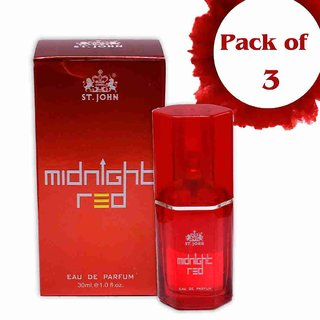 ST.JOHN Perfume For Women 30 ML MID NIGHT  (PACK 3)