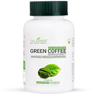 Neuherbs Green Coffee Bean Extract Capsules for Weight Management 800mg GCA - 30 Veggie Capsules