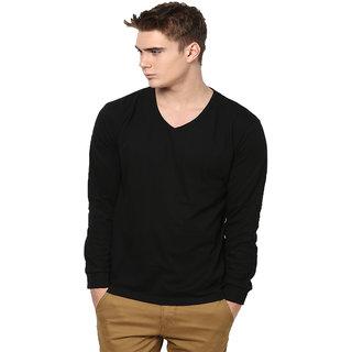 Unisopent Mens Vneck Full Sleeves solid T-shirt