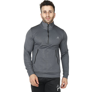 Built Natural Men's Casual Long Sleeve Fashion Outdoor Jacket Cum Fleece Pullovers for Men