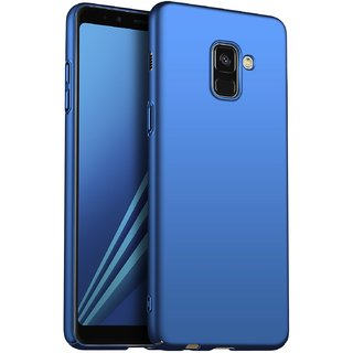 4Cut Matte Finish Rubberised  Hard Back Case Cover For Samsung Galaxy J6 Plus  - Blue