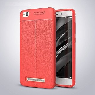 TPU Flexible Auto Focus Shock Proof Back Cover For Redmi MI5A (Red)
