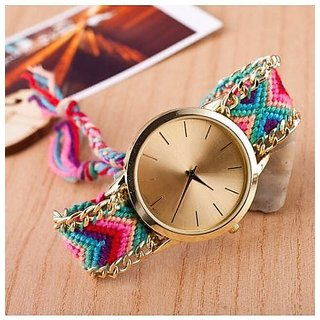 women's Handmade Braided Friendship Bracelet  wrist watch