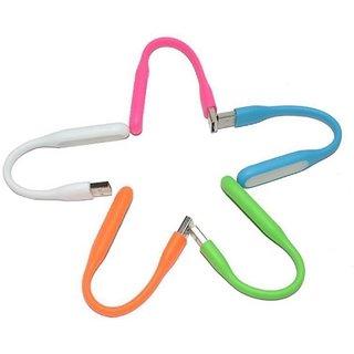 SCORIA 5 Pcs. Portable Usb Led Flexible Lamp Usb Ultra Bright Led Light Lamp 4.2 Watt Led Light(Multicolor)